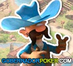 Governor of Poker personaje de vaquero